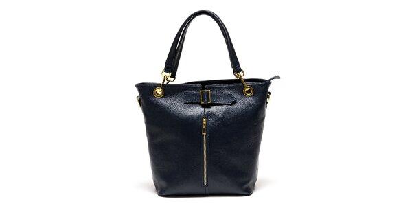Dámska modrá kabelka so zipsom Luisa Vannini
