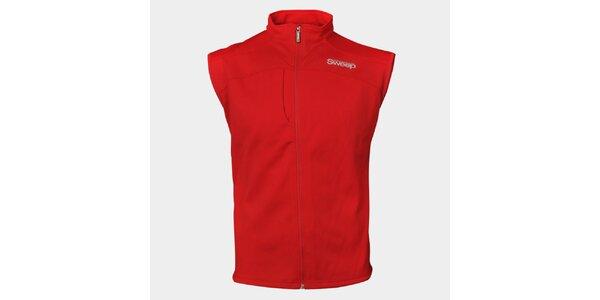 Pánska červená športová vesta Sweep