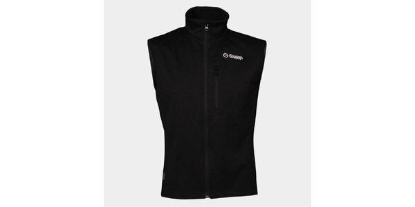 Pánska čierna softshellová vesta Sweep