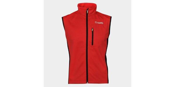 Pánska červená softshellová vesta Sweep