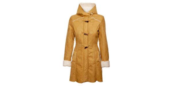 Dámsky ťaví zimný kabát Yumi s vnútorným kožúškom
