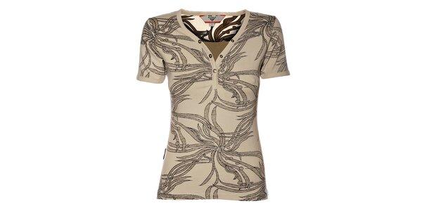 Dámske tričko Bushman s tmavo hnedou potlačou džungle