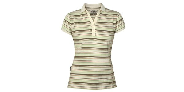 Dámske zeleno-khaki pruhované tričko Bushman