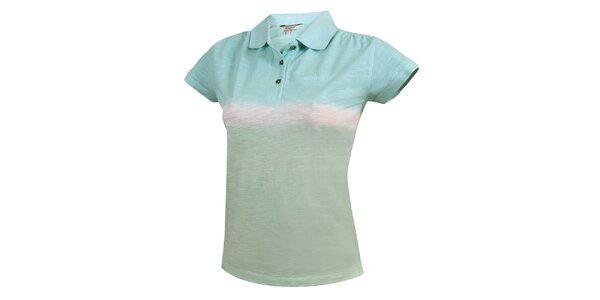 Dámske duhové polo tričko v modrých tónoch Bushman