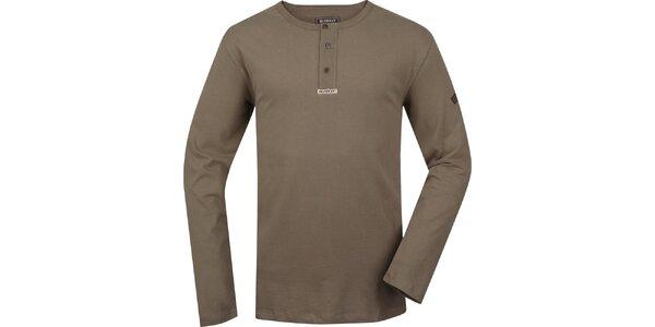 Pánske khaki tričko s dlhými rukávmi Bushman