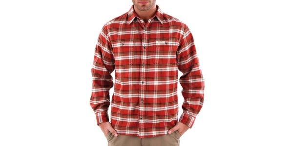 Pánska oranžová károvaná košeľa Bushman