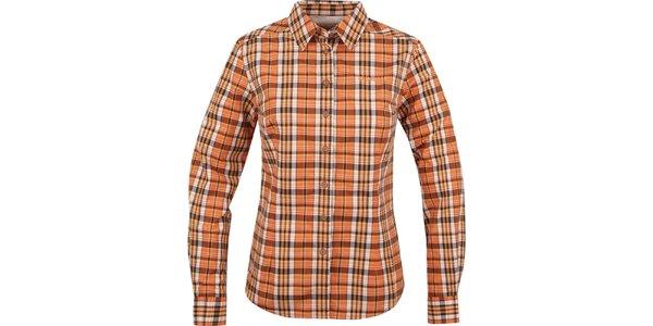Dámska oranžová košeľa s kockami Bushman
