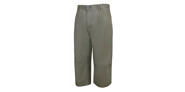 Pánske khaki trojštvrťové nohavice Bushman