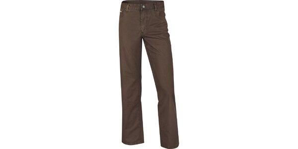 Pánske hnedé rovné džínsy Bushman