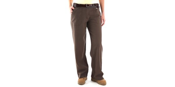 Pánske šedohnedé nohavice Bushman s vreckami