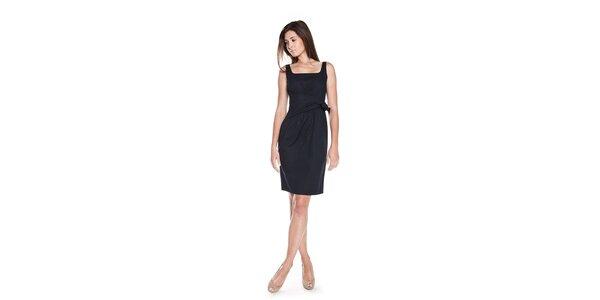 Dámske tmavo modré šaty Moschino Cheap & Chic s mašľou v páse