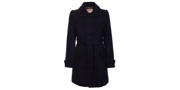 Dámsky temne modrý zimný kabát Yumi