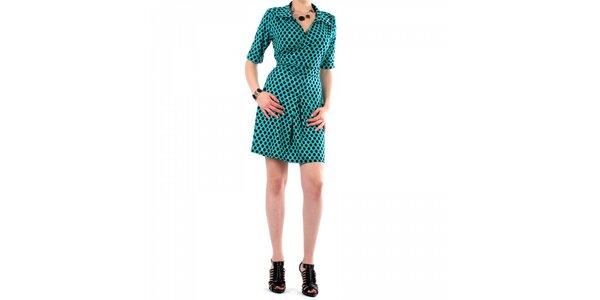 Dámske tyrkysové bodkované šaty Fifilles se Paris