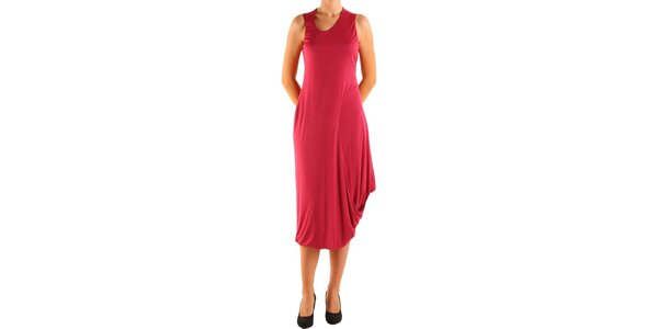 Dámske červené šaty Calvin Klein