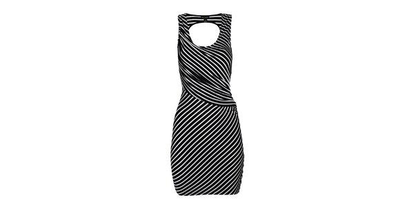 Dámske čierno-biele pruhované šaty House of Dereon