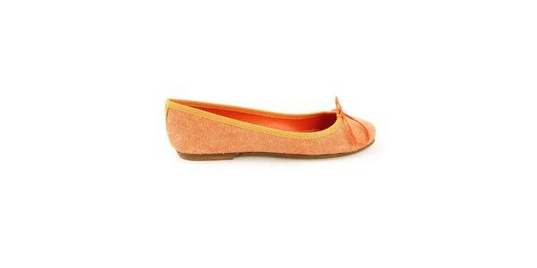 Dámske oranžové textilné balerínky Ponte Vecchio