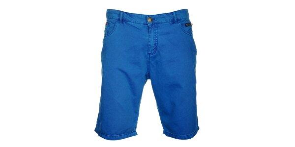 Pánske výrazne modré bermudy Lee Cooper