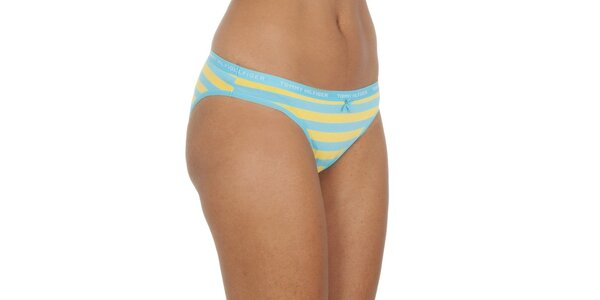 Dámske žlto-modré pruhované nohavičky Tommy Hilfiger
