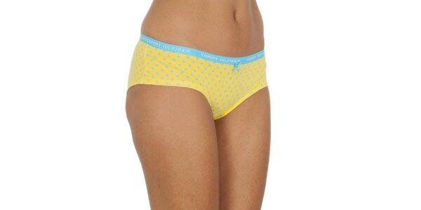 Dámske žlto-modré bodkované nohavičky Tommy Hilfiger