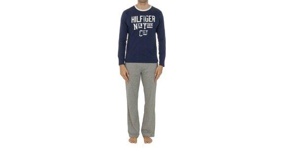 Pánske pyžamo so šedými nohavicami Tommy Hilfiger