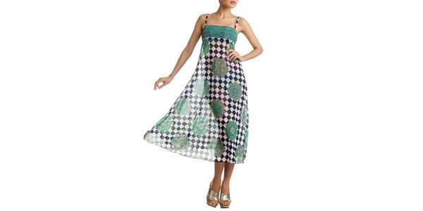 Dámska vzorovaná farebná sukňa-šaty Charmante