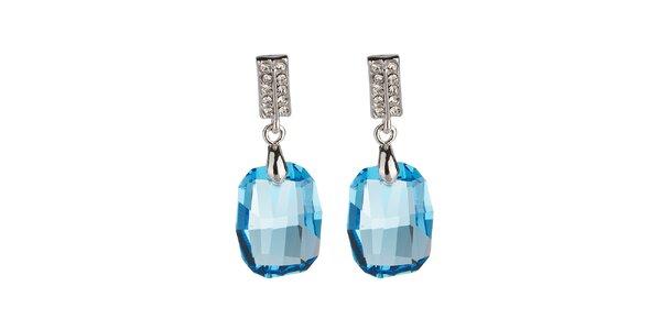 Dámske naušnice s modrým kryštáľom Fifi Ange