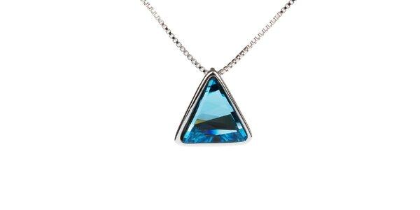 Dámsky náhrdelník s modrým trojuholníkovým príveskom Fifi Ange