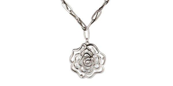 Dámsky náhrdelník s ružičkou Fifi Ange