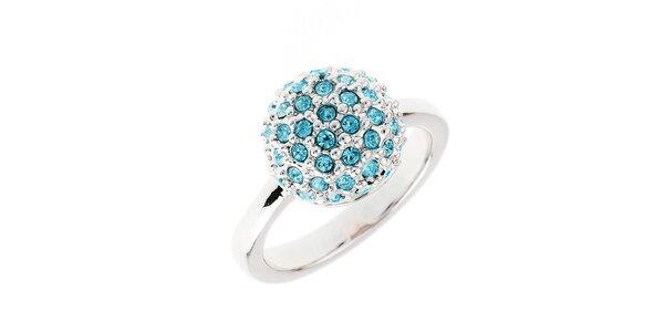Dámsky prstienok s modrými kryštálikmi Fifi Ange