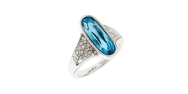 Dámsky prstienok s modrým oválnym kryštálom Fifi Ange