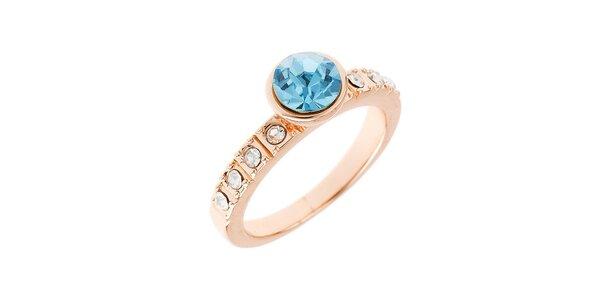 Dámsky prstienok s modrým kryštálom Fifi Ange
