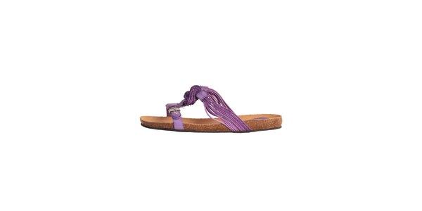 Dámske fialové sandálky s vrkôčikmi Dr. Scholl