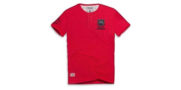 Pánske červené tričko s výšivkou Paul Stragas