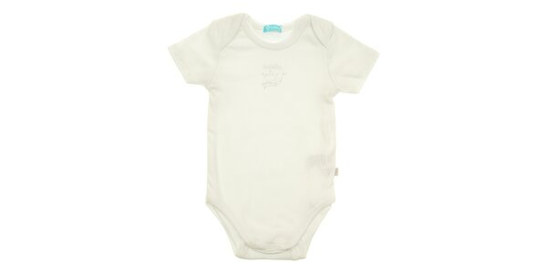 Detské biele body Lullaby s krátkym rukávom
