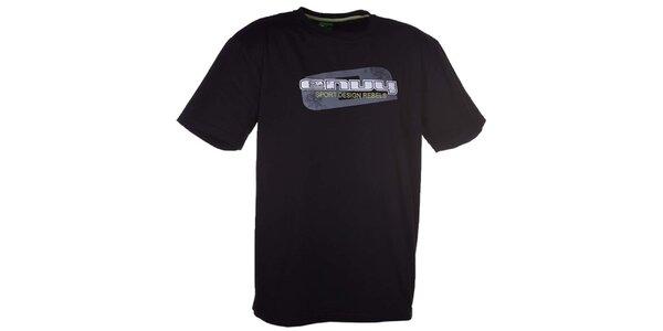 Pánske čierne tričko s potlačou Envy