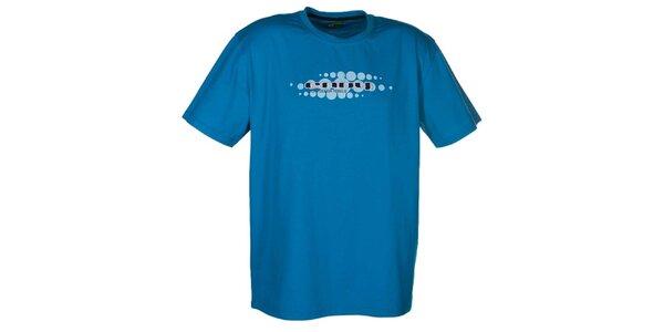 Pánske modré tričko so svetlou potlačou Envy