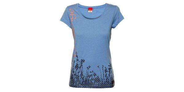 Dámske modré tričko s krátkym rukávom Sam 73
