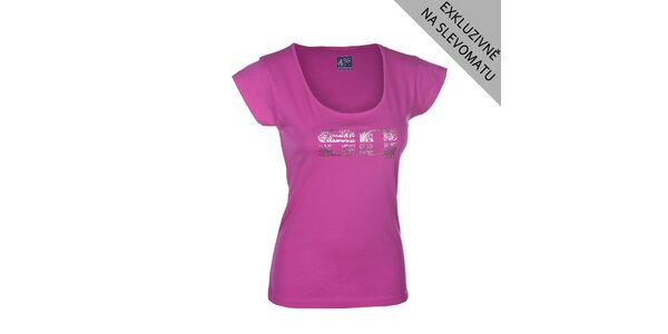 Dámske ružové tričko s potlačou Envy