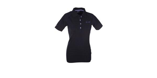 Dámske čierne polo tričko Envy