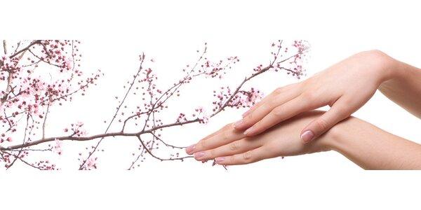 Japonská P-Shine manikúra na prírodné nechty