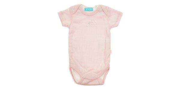 Detské ružové body Lullaby s krátkym rukávom