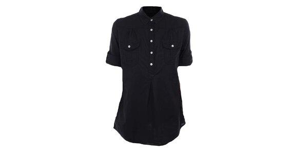 Dámska čierna košeľa s krátkym rukávom Timeout
