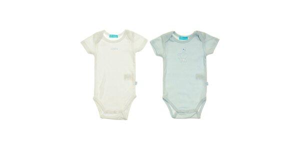 Sada dvoch detských body Lullaby - modré a biele