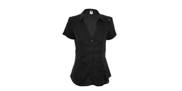 Dámska čierna košeľa Miss Sixty s krátkym rukávom