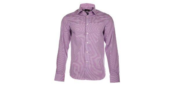 Pánska vínová kockovaná košeľa Calvin Klein