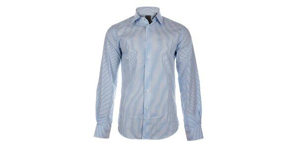 Pánska biela košeľa Calvin Klein so svetlo modrým prúžkom