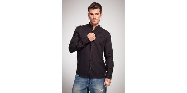 Pánska čierna košeľa Bendorff