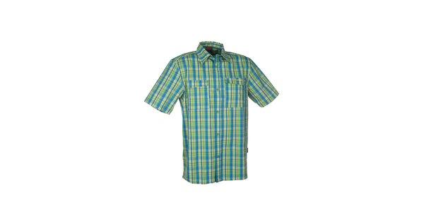 Pánska zeleno-modrá kockovaná košeľa Envy