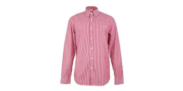 Pánska červeno-biela prúžkovaná košeľa GAS