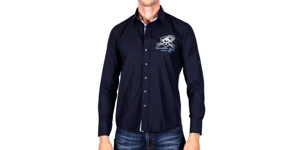 Pánska tmavo modrá košeľa Galvanni